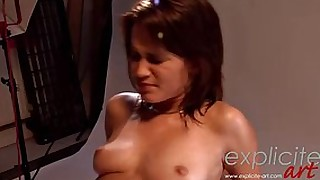 French glamour princess Lea fucked fast and hard in the ass