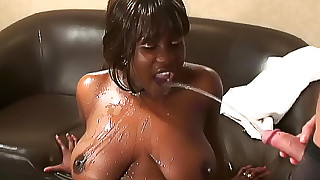 Black girl loves their piss