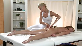 Uma and Zara are fucking after nice massage