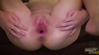 Cute redhead amateur cock gobbler fucked