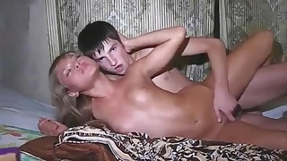 Marek fuck with Russian blonde Kristy on the bed