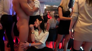 Hardcore slutty ladies are fucking in the party